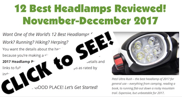 12 Top headlamps reviewed from Petzl, Coast, Fenix, Black Diamond, and OLight.