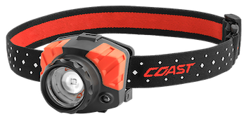 Latest 2017 Coast FL85 headlamp with focus beam and 615 lumens brightness.