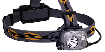 Fenix HP25R headlamp, 2017 model.