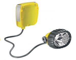 Petzl Duo LED 14 headlamp with 14 LED bulbs and 1 halogen light.