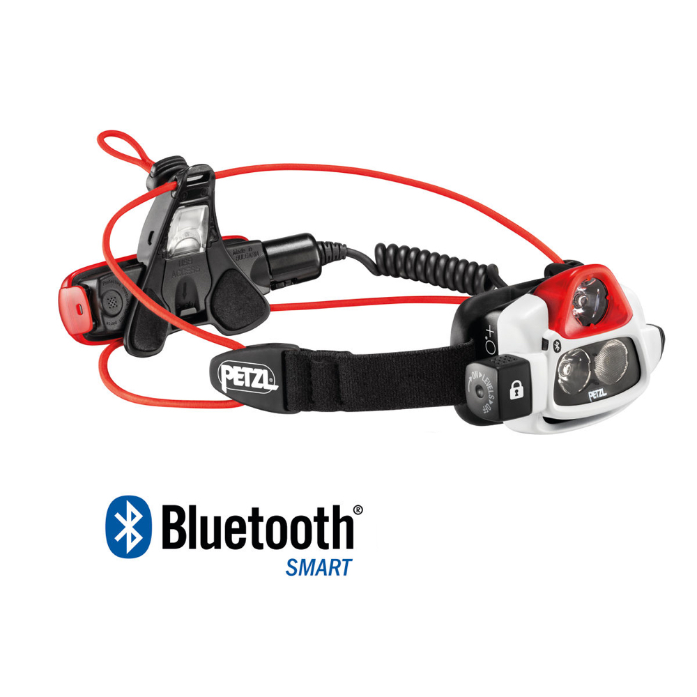Petzl Nao+ (Plus) Headlamp is Bluetooth enabled and custom programmable using iPhone or other smartphone.