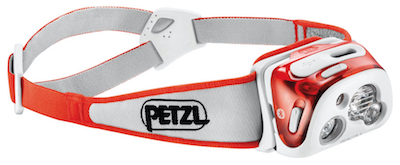 Petzl Reactik+ Plus headlamp with Reactive Lighting Technology.