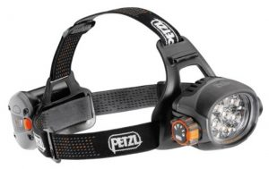 Petzl Ultra headlamp, 350 lumens max.