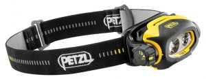 Petzl Pixa 3 headlamp with 100 lumens.