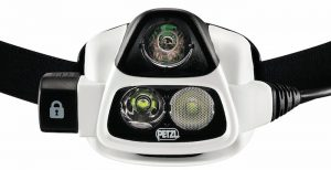 Petzl Nao 1 headlamp with 355 lumens max light output.