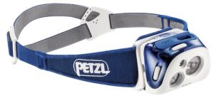 Petzl Reactik headlamp with 220 lumens max light output.