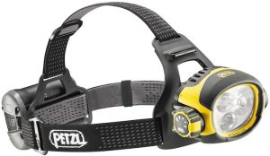 Petzl Ultra Vario headlamp for caving and other dangerous work.